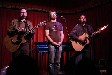 Paul, Jonathan Coulton & Storm; Photo by Aaron Haley