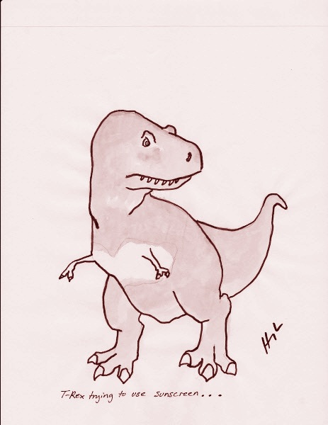 t-rex-trying-to-use-sunscreen